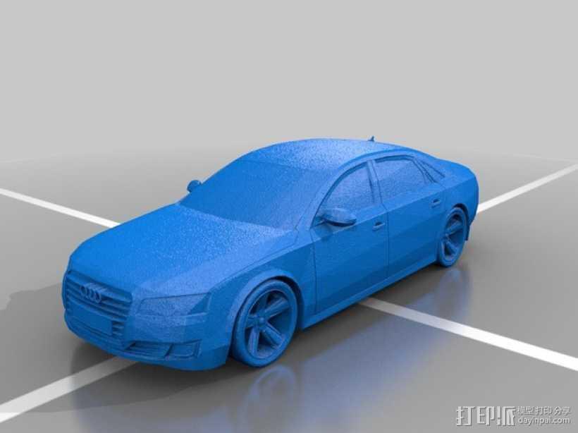 Audio A8奥迪A8汽车 3D打印模型渲染图