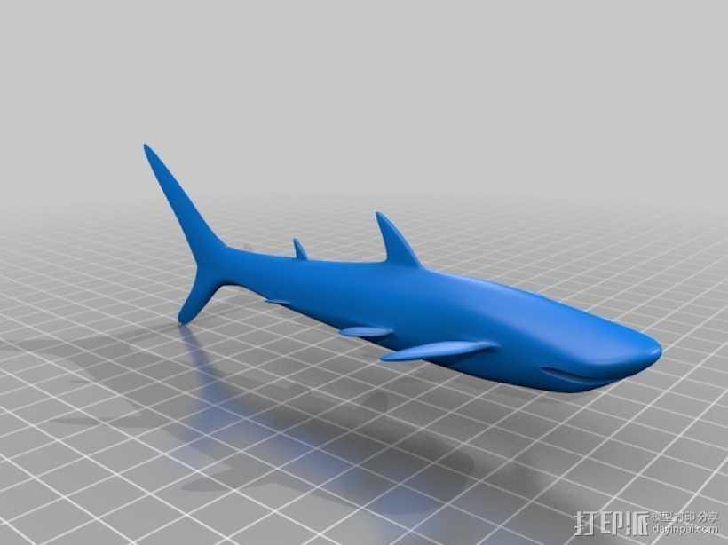 鲨鱼 3D打印模型渲染图