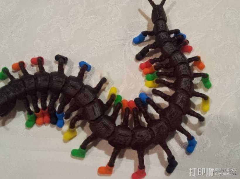 穿着鞋子的蜈蚣 3D打印模型渲染图