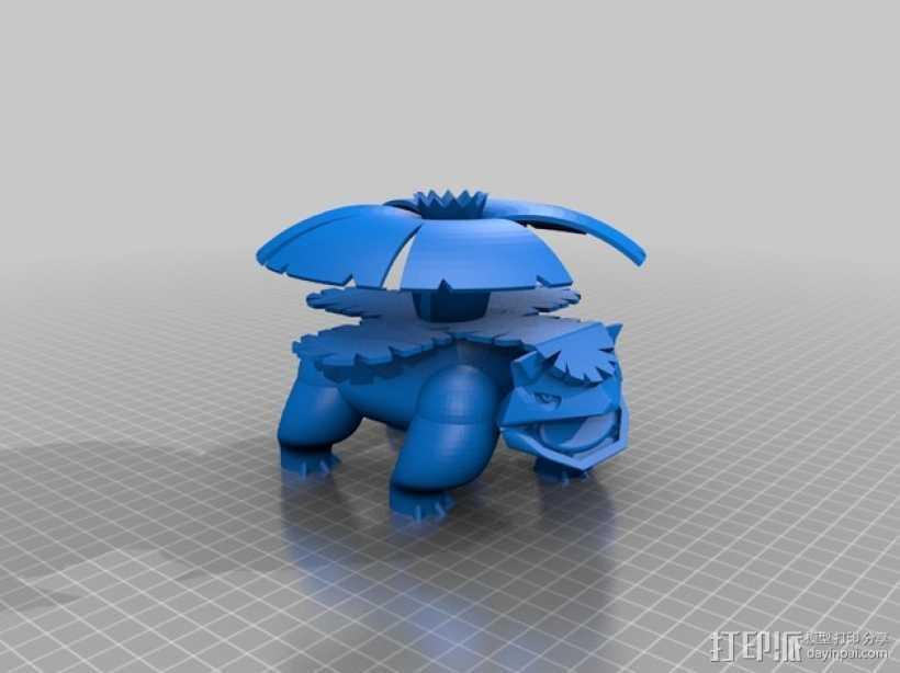 妙蛙花 3D打印模型渲染图