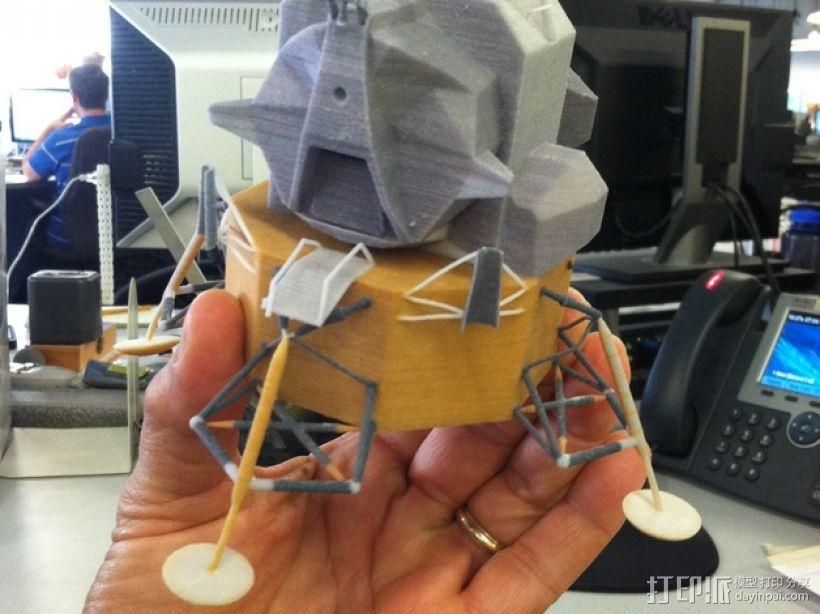 月球着陆器 3D打印模型渲染图