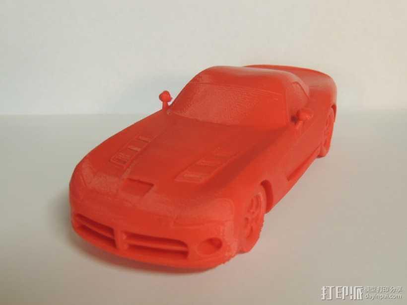 Dodge Viper跑车 3D打印模型渲染图