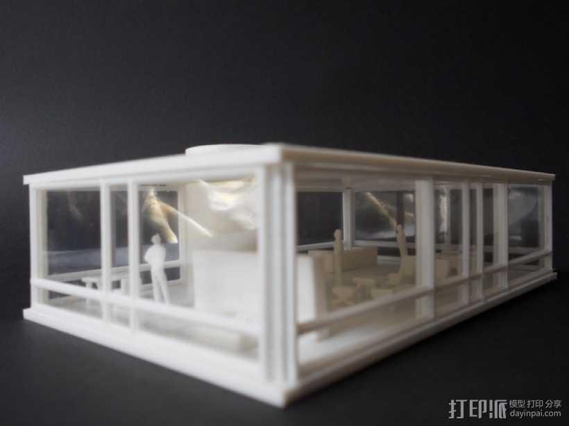 玻璃房 3D打印模型渲染图