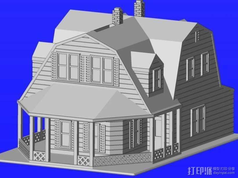 海边别墅 存钱罐 3D打印模型渲染图