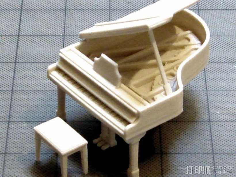 钢琴 凳子 3D打印模型渲染图