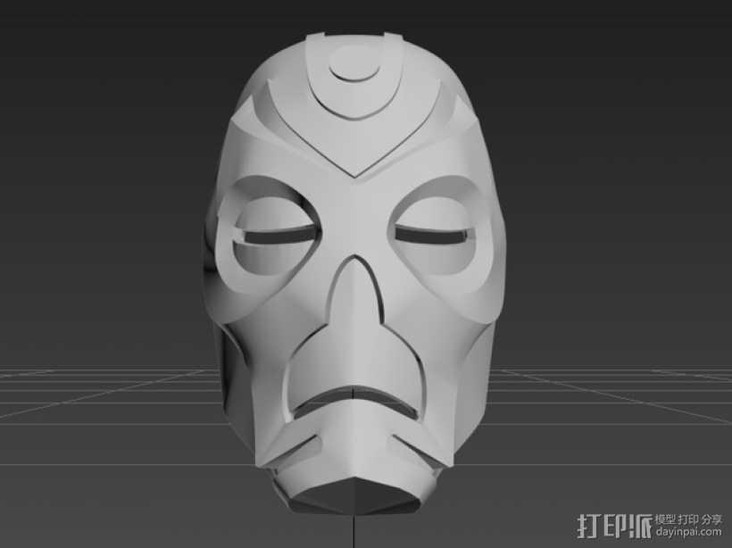 上古卷轴龙祭司面具 3D打印模型渲染图