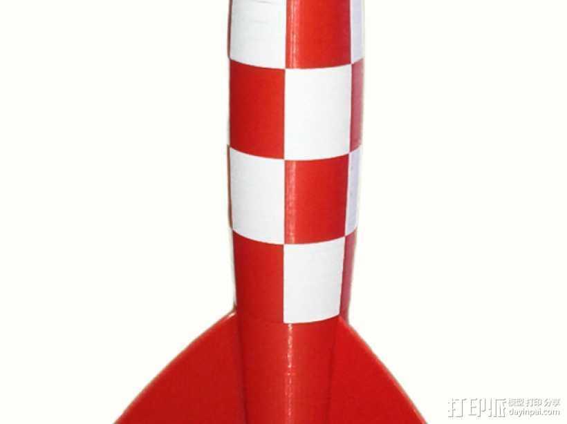 Tintin火箭 3D打印模型渲染图