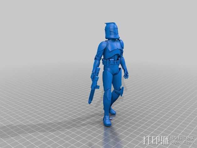 星球大战骑兵 3D打印模型渲染图