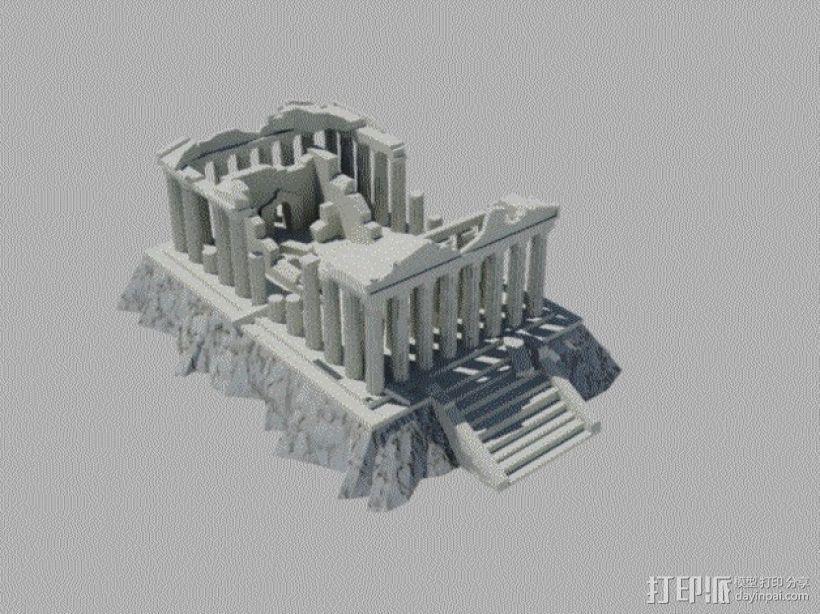 爱奥尼亚废墟 3D打印模型渲染图