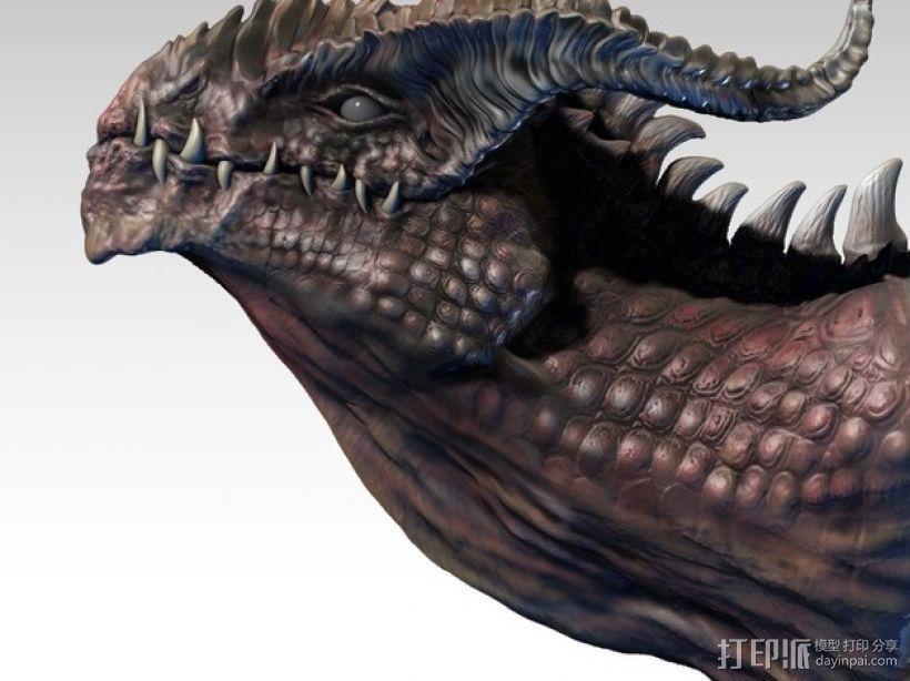龙头雕塑 3D打印模型渲染图