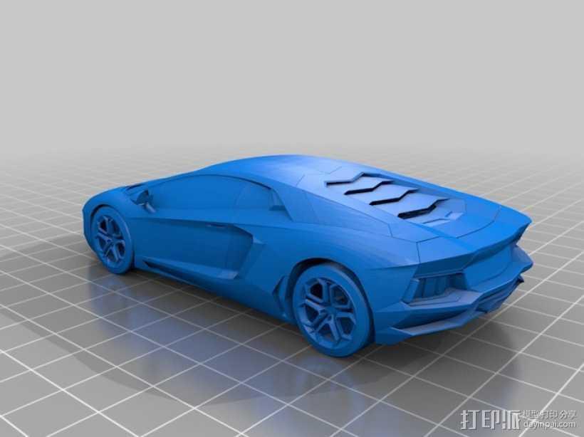 兰博基尼跑车 3D打印模型渲染图