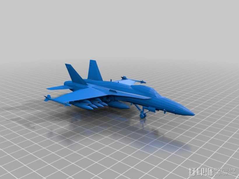 mc donnel 战斗机 3D打印模型渲染图