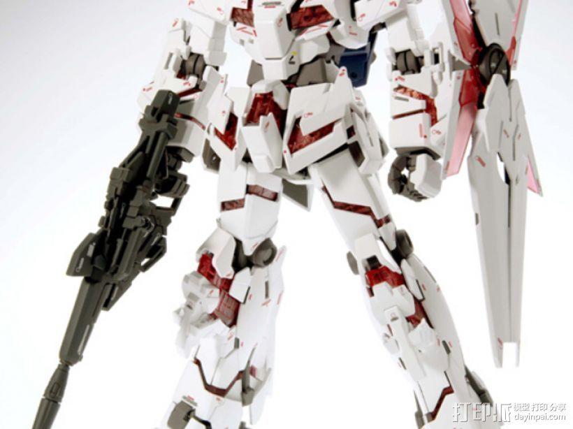 RX-0 Unicorn Gundam机械战士独角兽敢达 3D打印模型渲染图