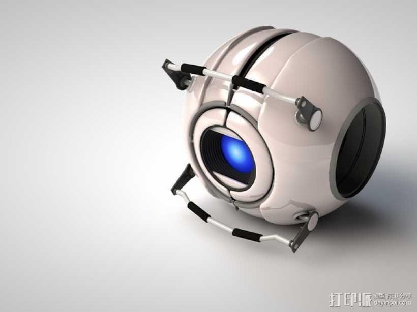 Wheatley惠特利智能球 3D打印模型渲染图