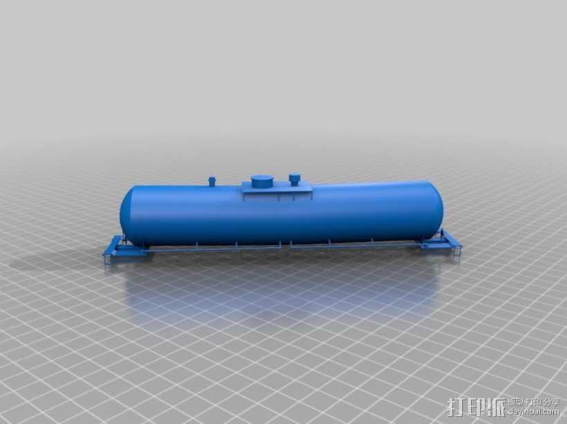 油槽车 3D打印模型渲染图