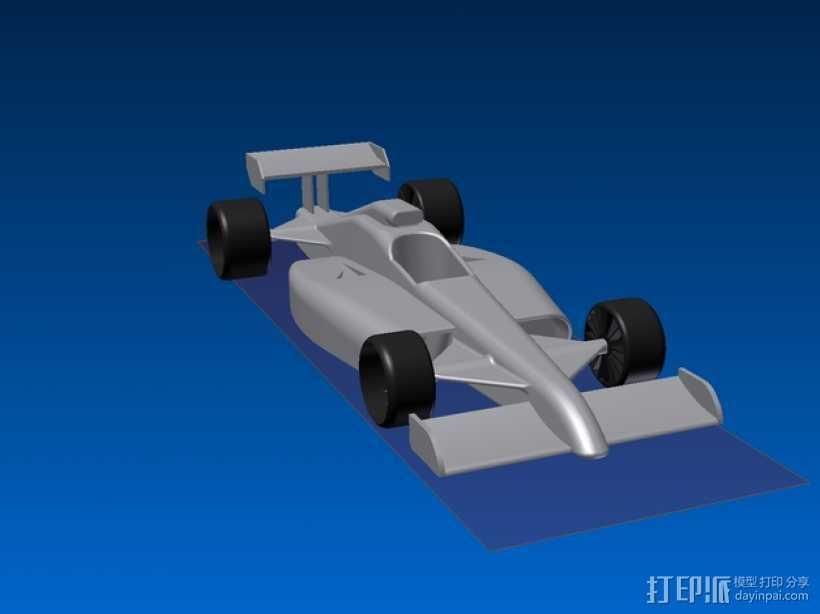 F1 玩具赛车 3D打印模型渲染图