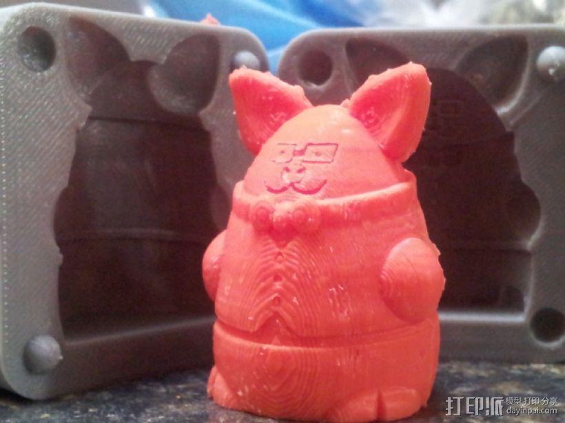 Pigdexter玩偶模具 3D打印模型渲染图