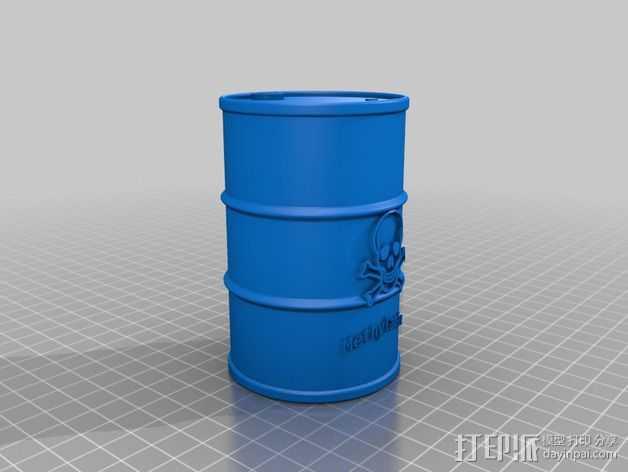 化学试剂桶 3D打印模型渲染图