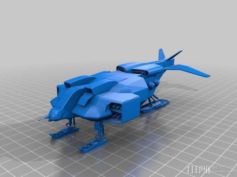 陆战队运输机 3D打印模型渲染图