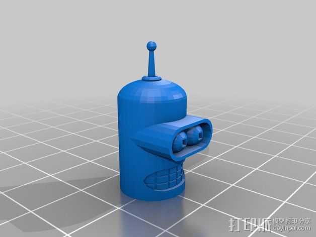 Bender Bending Rodriguez机器人玩偶 3D打印模型渲染图