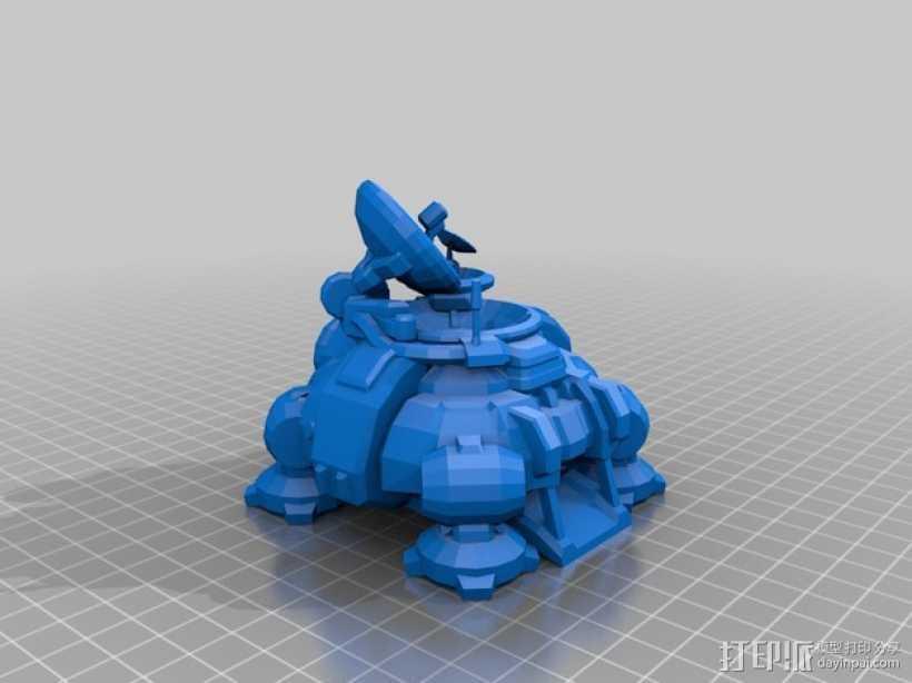 星际争霸飞船 3D打印模型渲染图