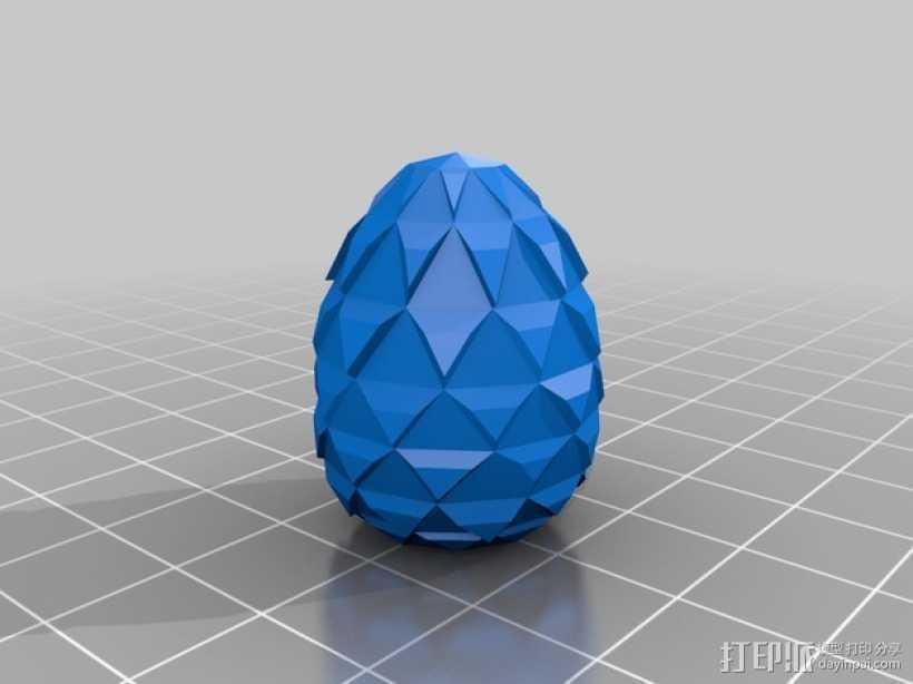 恐龙蛋 3D打印模型渲染图