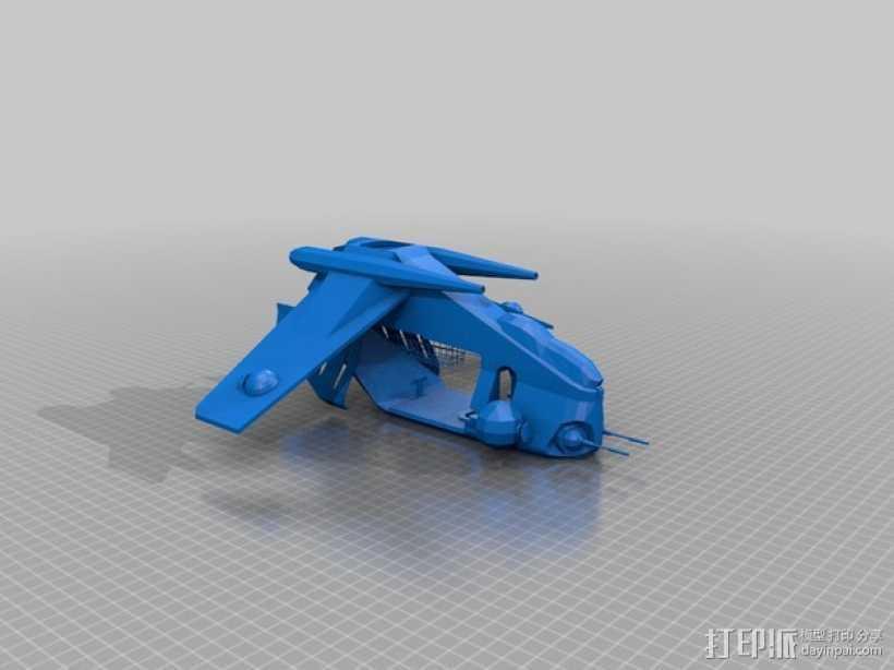 星球大战共和国武装直升机 3D打印模型渲染图