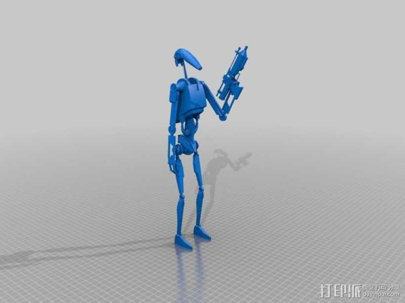星球大战机器人 3D打印模型渲染图