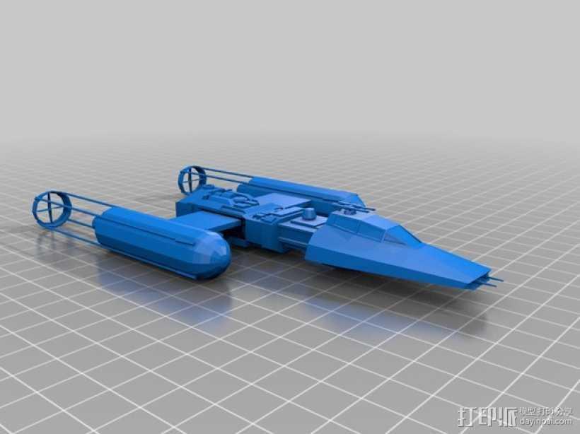 星球大战Y翼战斗机  3D打印模型渲染图