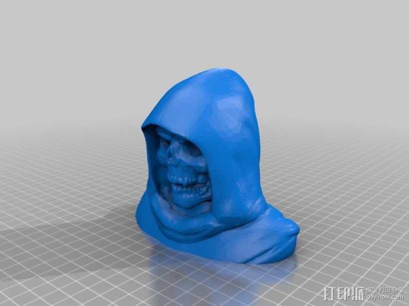 骷髅王半身像 3D打印模型渲染图