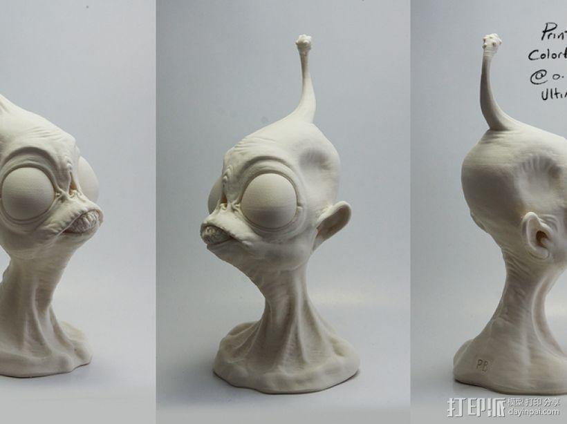 外星人ieyo半身像 3D打印模型渲染图