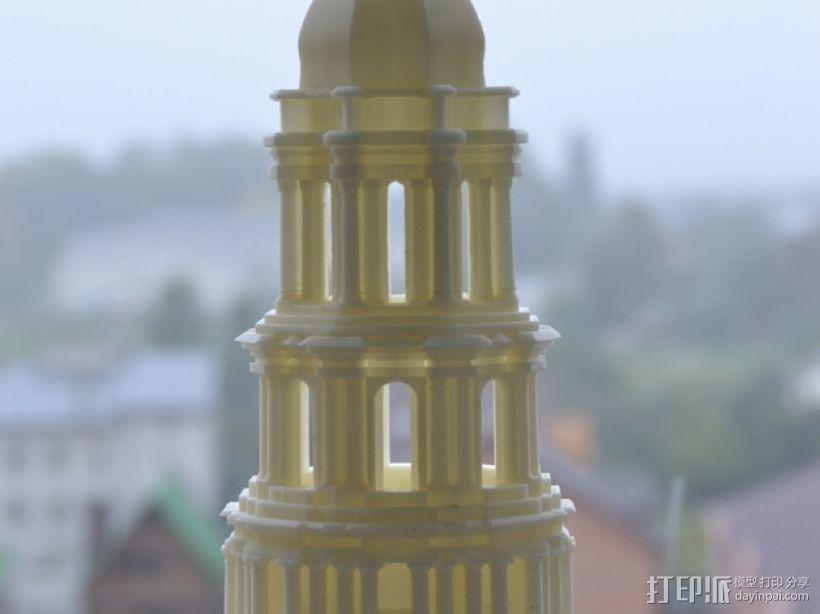 修道院钟楼 钟塔 3D打印模型渲染图