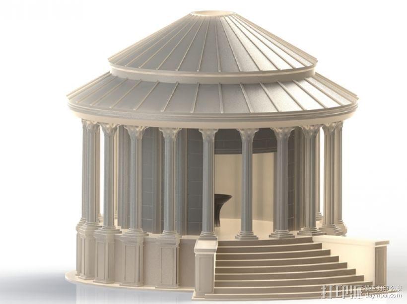 火灶神维斯塔神庙 3D打印模型渲染图