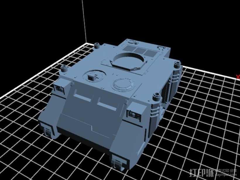 捕食者坦克 3D打印模型渲染图