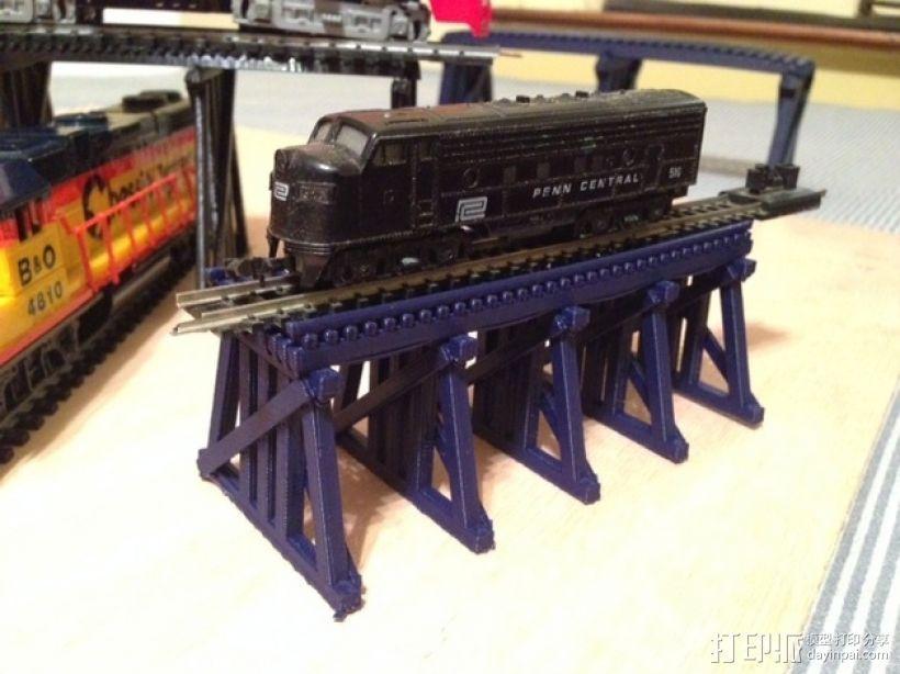 高架桥 火车道 3D打印模型渲染图