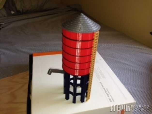 火车道 储水塔 3D打印模型渲染图