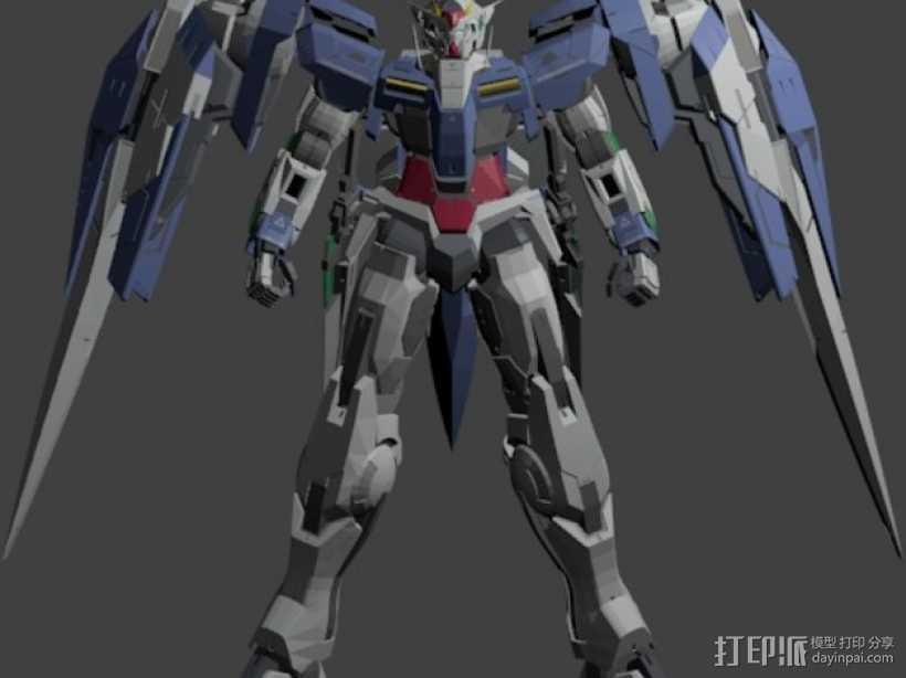 机械战士敢达 3D打印模型渲染图