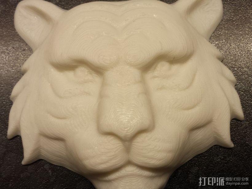 老虎 3D打印模型渲染图