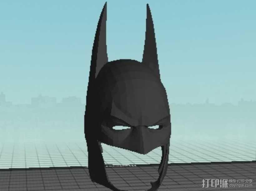 蝙蝠侠头盔 3D打印模型渲染图