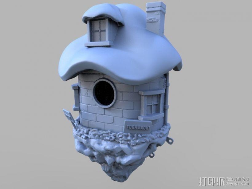 小矮人的树屋 3D打印模型渲染图
