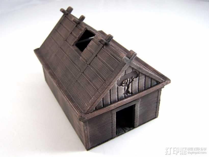 维京人的房子 3D打印模型渲染图