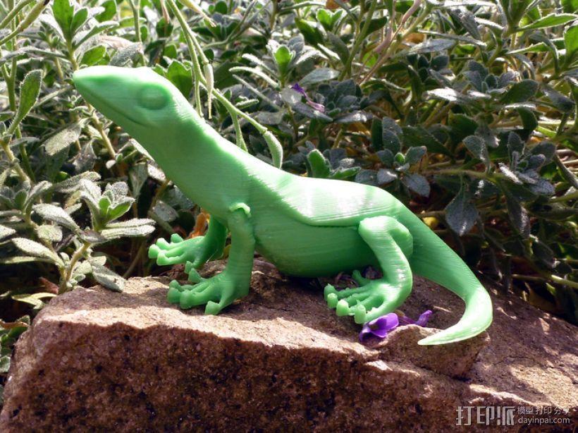 小蜥蜴 3D打印模型渲染图