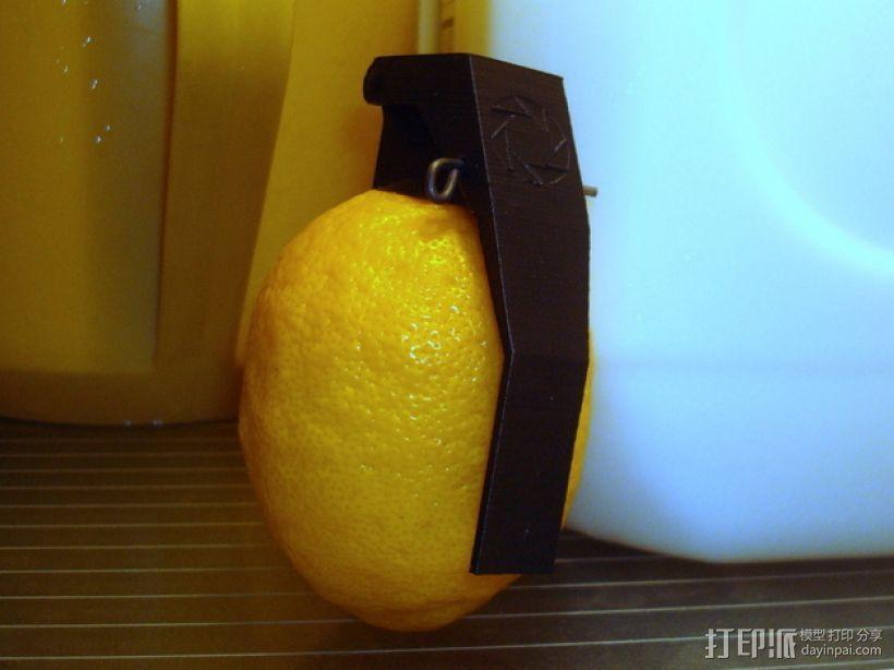 柠檬手榴弹 3D打印模型渲染图