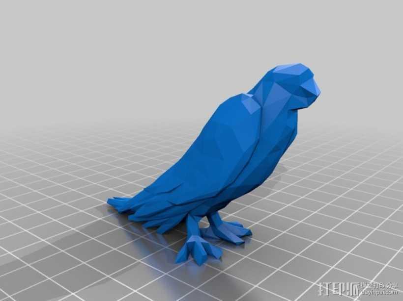低面数鹦鹉 3D打印模型渲染图