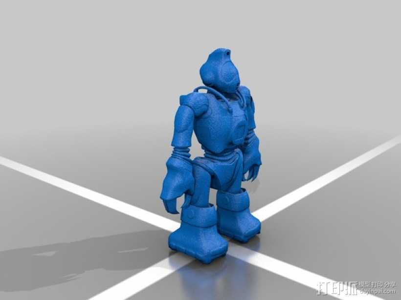 Robosapien智能机器人 3D打印模型渲染图