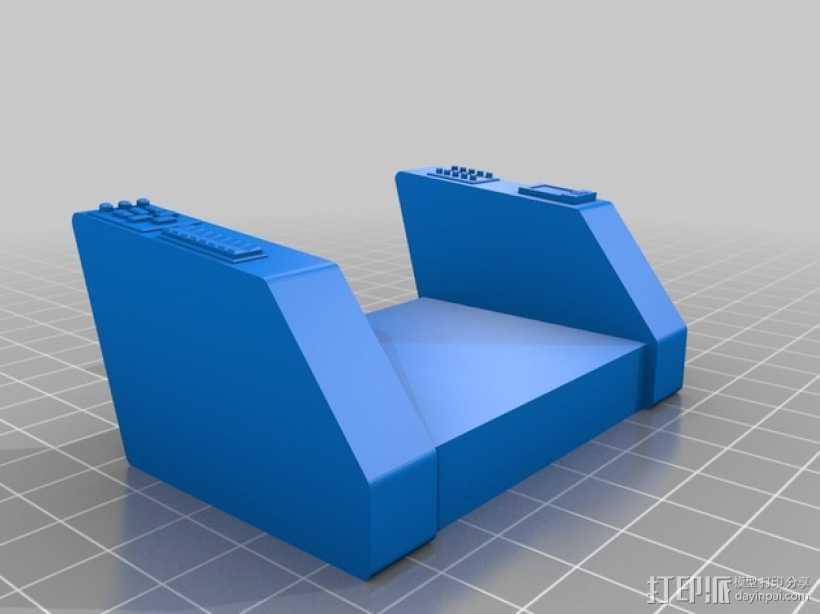 柯克船长指挥椅 3D打印模型渲染图