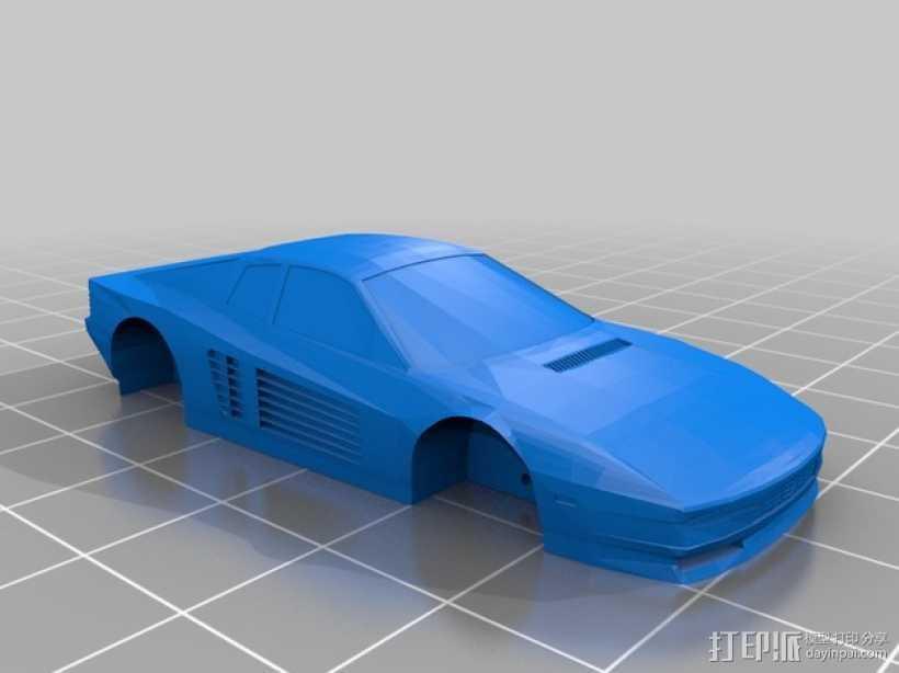法拉利 Testarossa跑车 3D打印模型渲染图