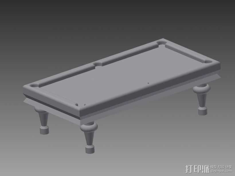 玩具台球桌 3D打印模型渲染图