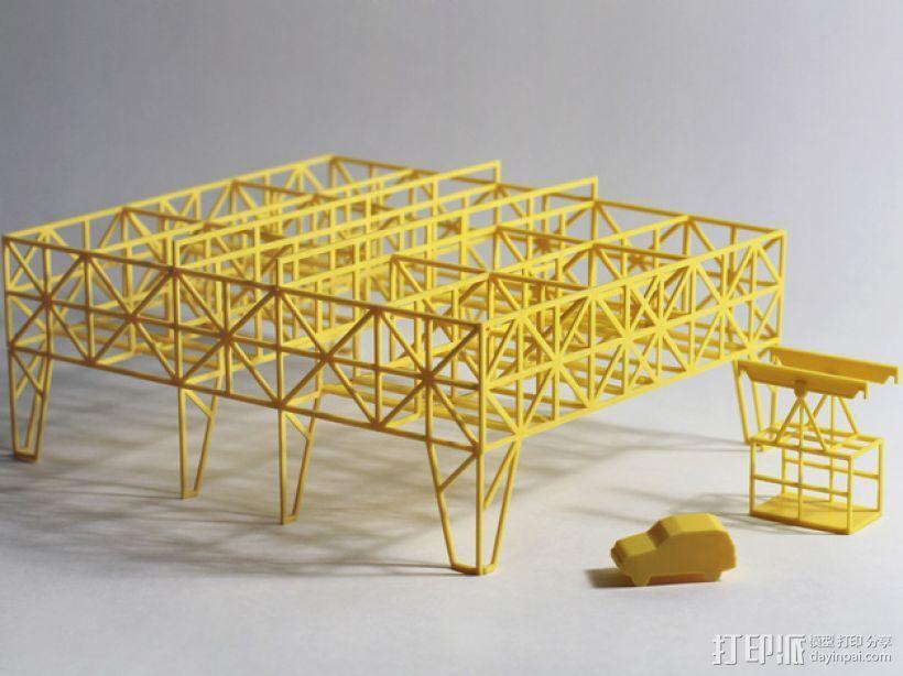 车间构架模型 3D打印模型渲染图