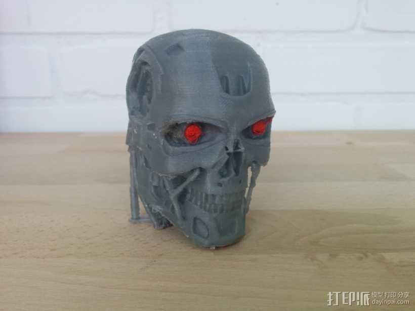 终结者头骨 3D打印模型渲染图
